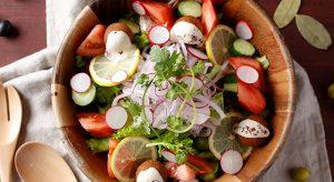 ひよこ豆のフリット「ファラフェル」 タニヒ 新鮮野菜のマグレブ風ベジタリアンサラダ
