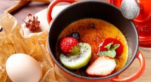 名古屋コーチンの卵で作った クレームブリュレ